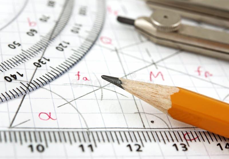 Desenho da geometria fotografia de stock royalty free