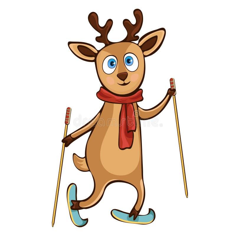 Desenho da mão dos cervos, personagem de banda desenhada, ilustração do vetor, caricatura, etiqueta, elemento do projeto Jovem co ilustração royalty free