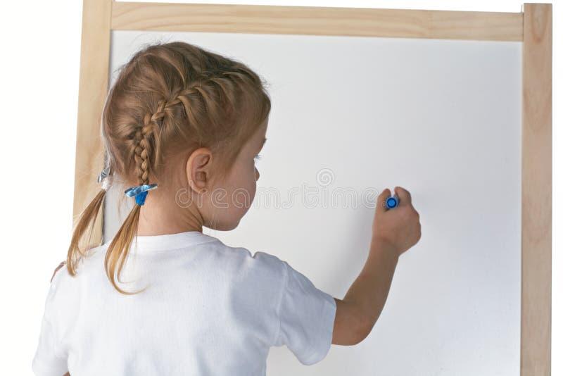 Download Desenho da menina imagem de stock. Imagem de criança - 12809607