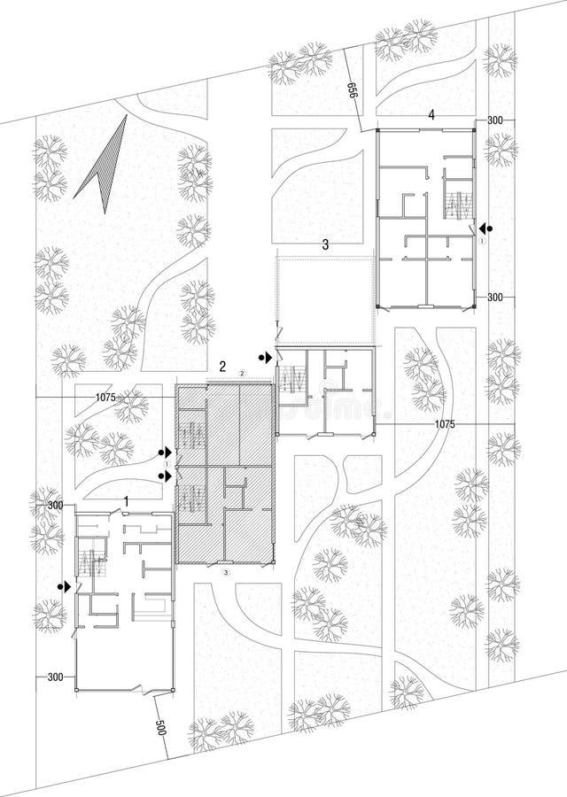 Desenho da planta geral ilustração stock