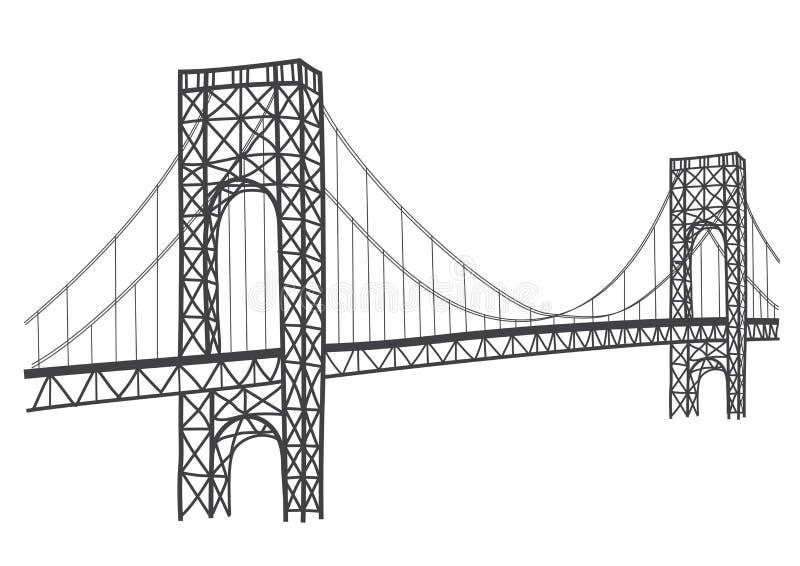 Desenho da ponte de George Washington ilustração stock