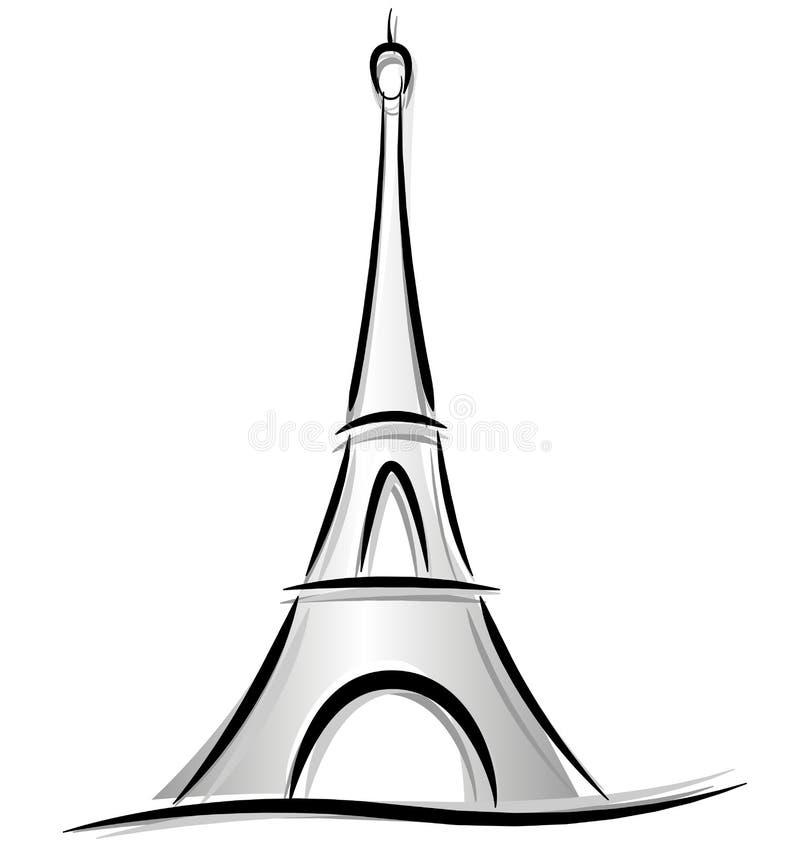 Desenho da torre Eiffel ilustração do vetor