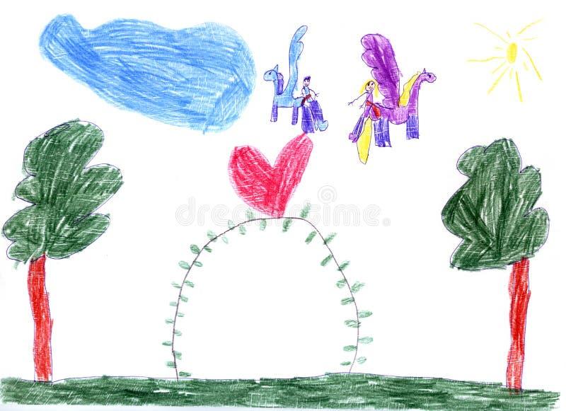 Desenho das crianças fotografia de stock royalty free