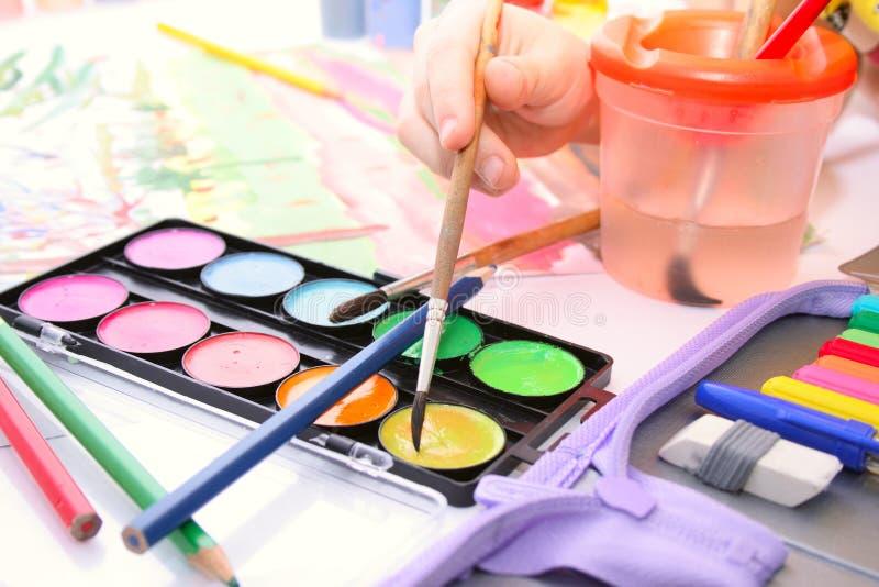 Desenho das crianças fotos de stock royalty free