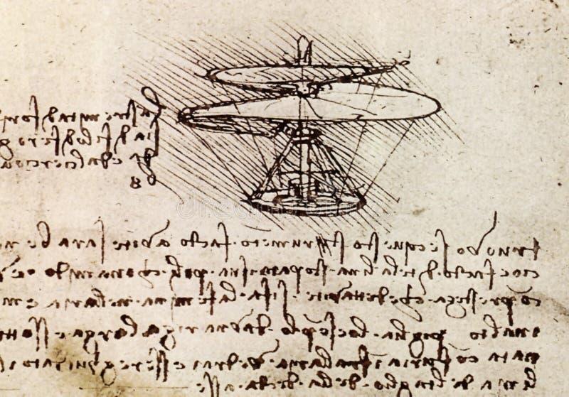 Desenho de Da Vinci ilustração do vetor