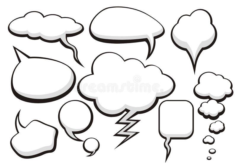 Desenho de esboço da coleção da conversa da bolha ilustração stock
