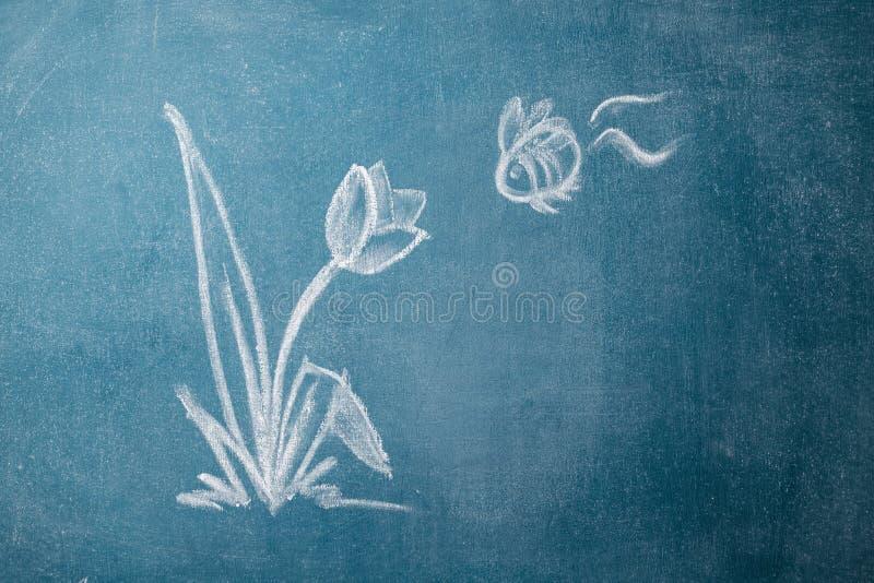 Desenho de giz ilustração stock