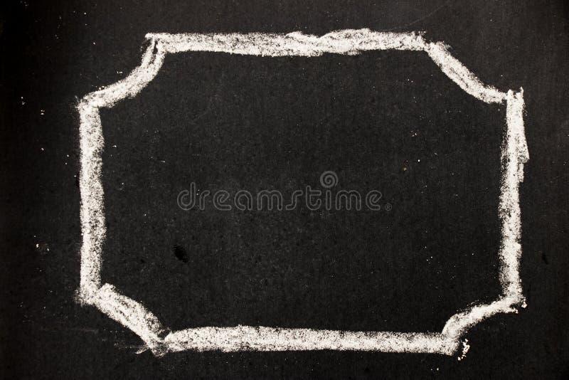 Desenho de giz como a forma do hexágono como o selo ou o selo vazio fotos de stock royalty free
