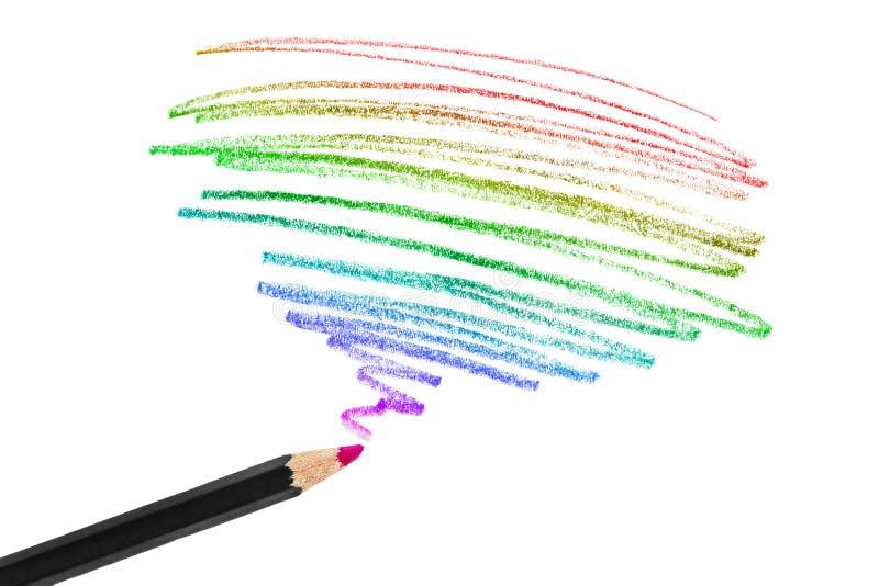 Desenho de lápis colorido imagem de stock