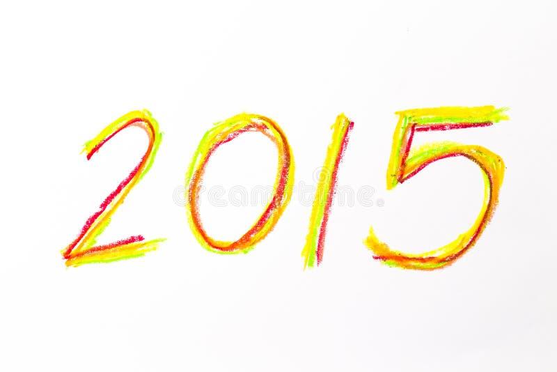 desenho de 2015 mãos para o calendário novo foto de stock royalty free