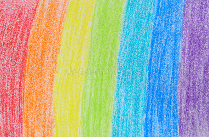 Desenho de pastel do arco-íris ilustração do vetor