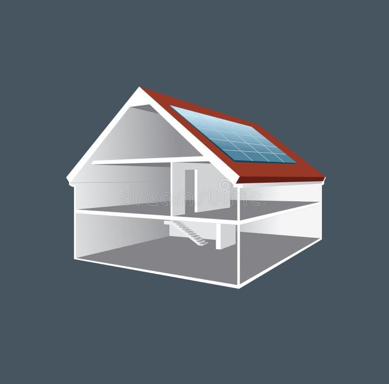 Desenho de seção transversal da casa do vetor ilustração do vetor