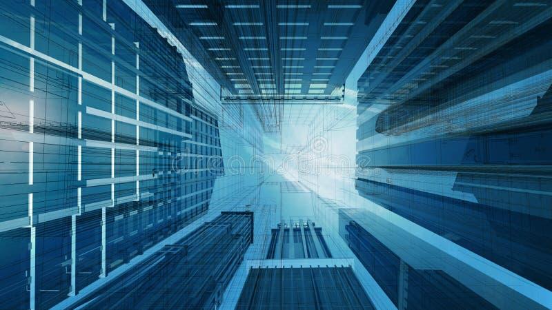 Desenho de Technival do edifício corporativo ilustração stock