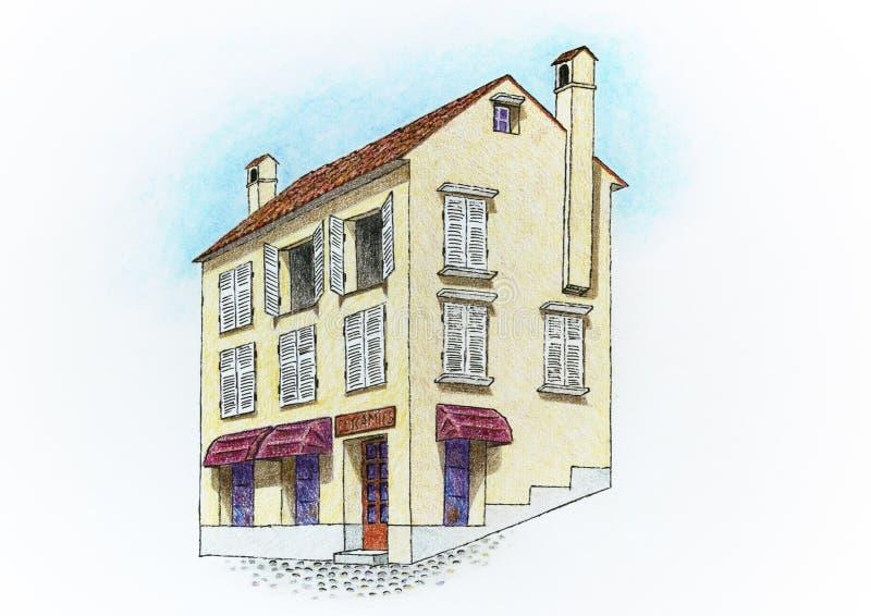 Desenho de uma casa foto de stock