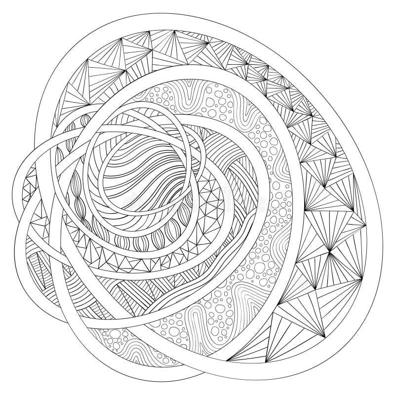 Desenho decorativo Zentangle ilustração royalty free