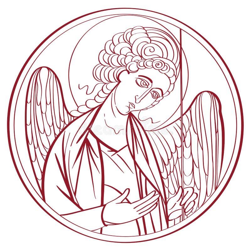 Desenho do arcanjo ilustração stock