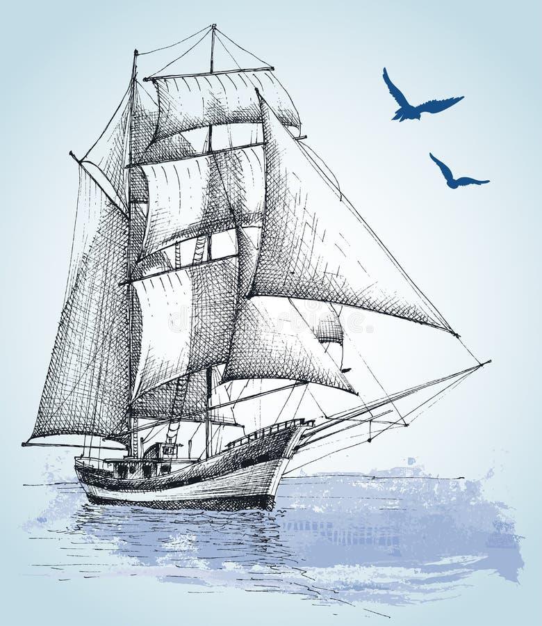 Desenho do barco ilustração stock