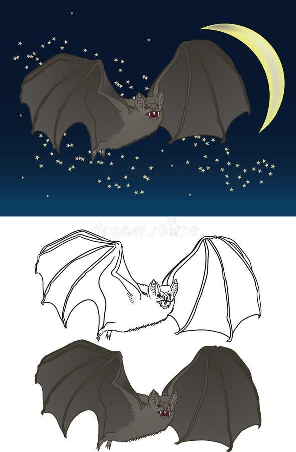 Desenho do bastão de vampiro fotos de stock