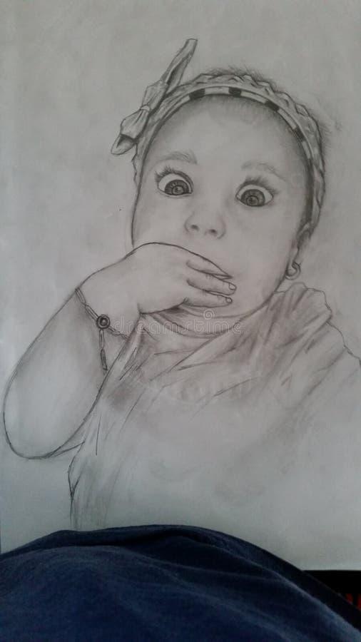 Desenho do bebê imagem de stock