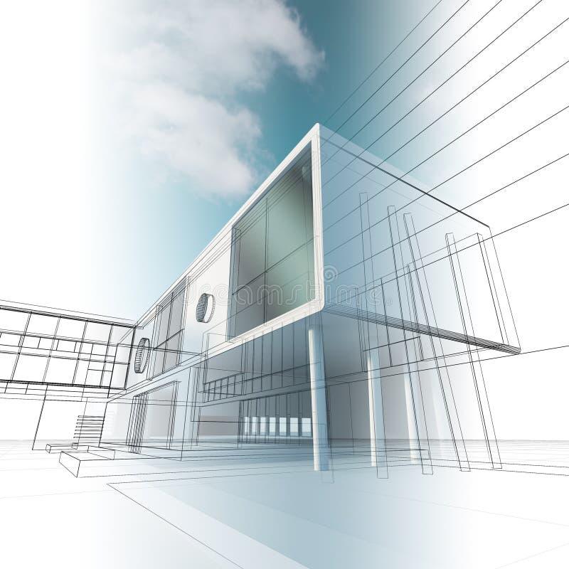 Desenho do conceito do edifício ilustração do vetor
