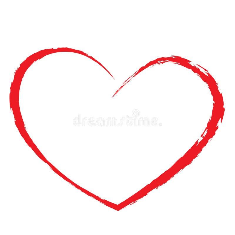 Desenho do coração ilustração royalty free