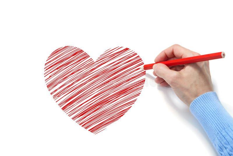 Desenho do coração imagem de stock