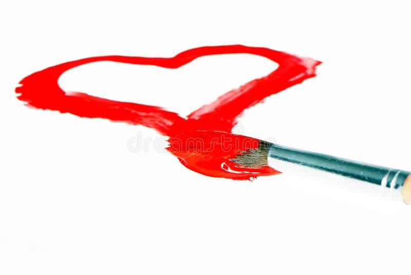 Desenho do coração do Valentim imagem de stock