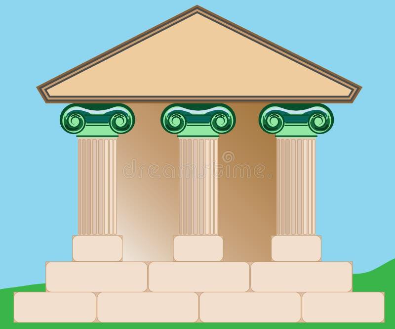 Desenho do edifício clássico. ilustração royalty free