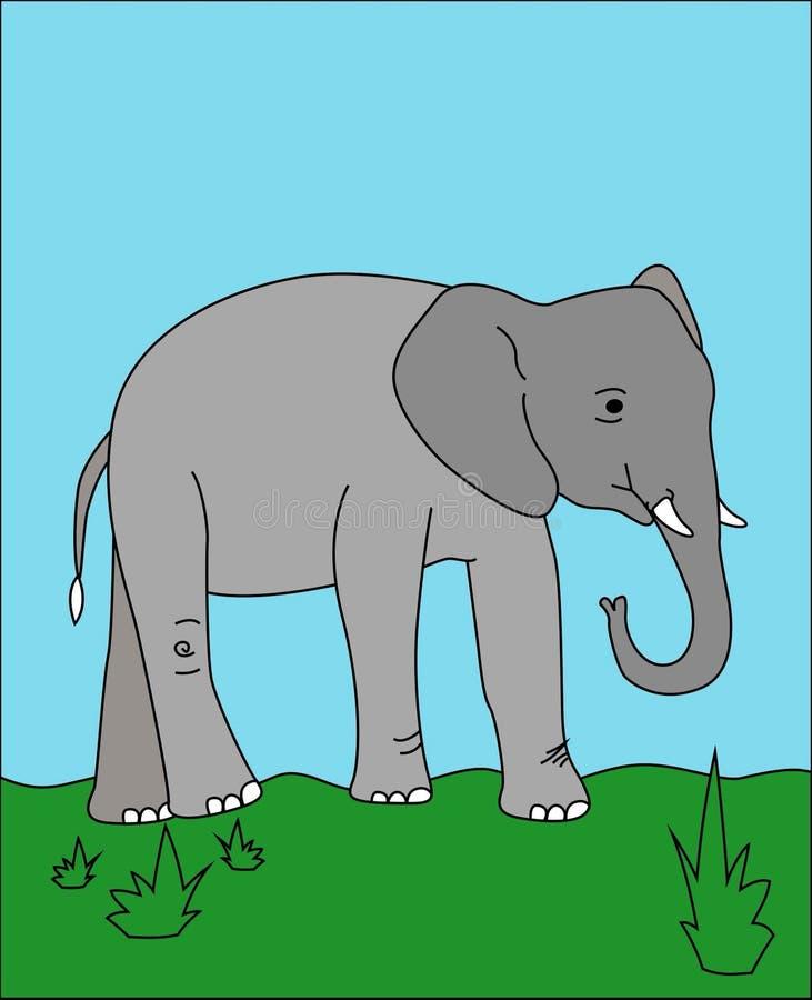 Desenho do elefante fotografia de stock royalty free