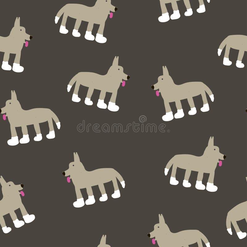 Desenho do lobo em uma cor cinzenta ilustração royalty free