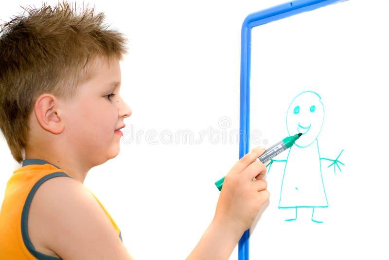 desenho do menino foto de stock royalty free