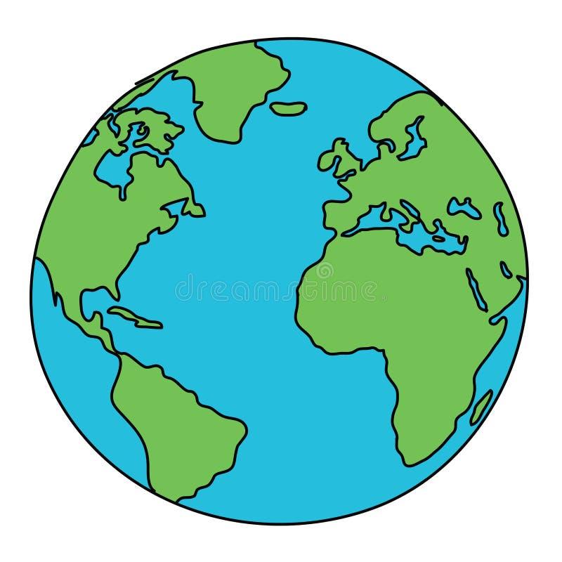 Desenho do mundo ilustração do vetor