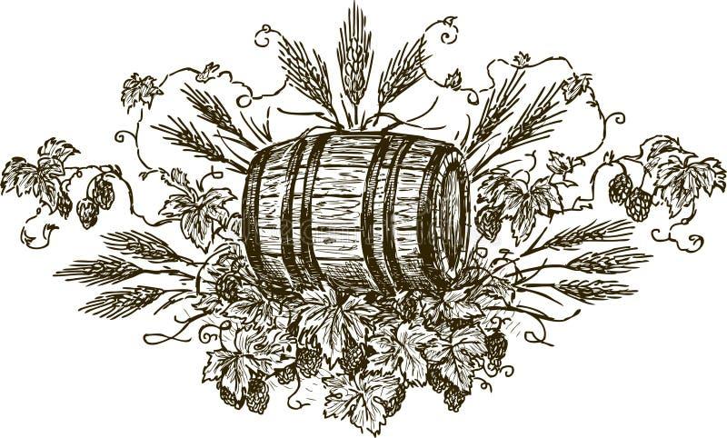 Cerveja ilustração royalty free