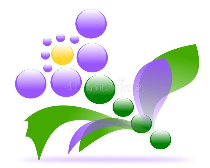 Desenho do vetor de uma flor em um fundo da faixa ilustração do vetor