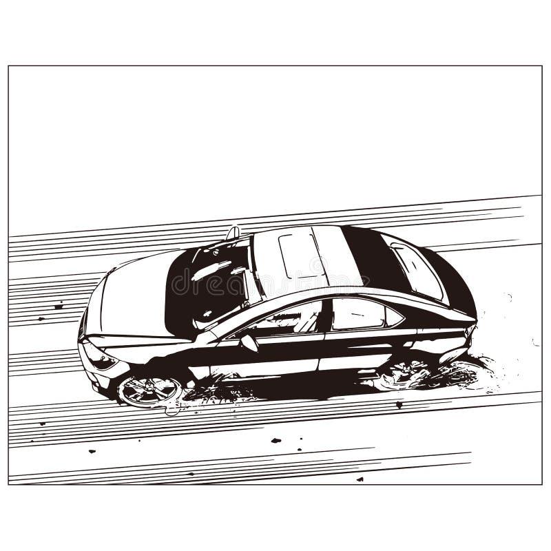 Desenho do vetor do carro fotos de stock royalty free