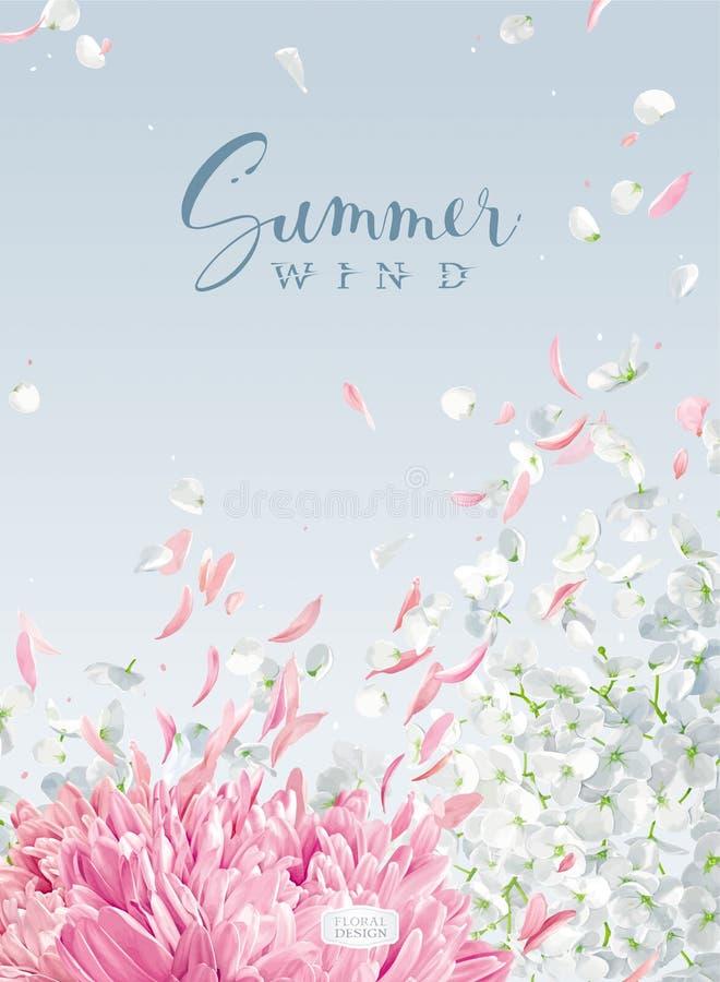 Desenho do vetor do vento do verão ilustração do vetor