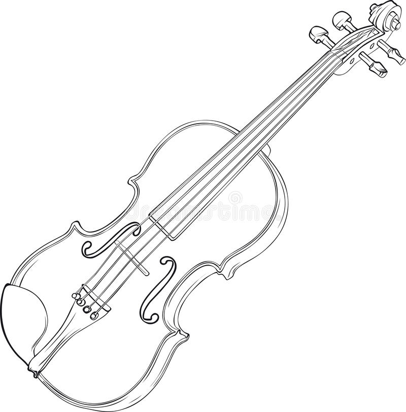Desenho do violino ilustração royalty free