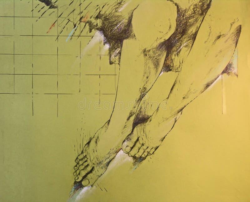 Desenho dos pés da mulher ilustração royalty free
