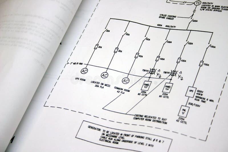 Desenho elétrico imagem de stock royalty free