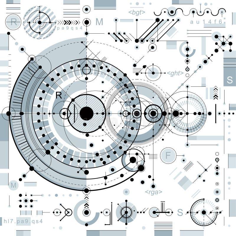 Desenho futuro do vetor da tecnologia, papel de parede industrial gráfico ilustração royalty free