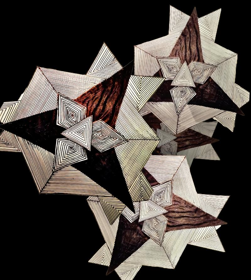 Desenho geométrico foto de stock royalty free