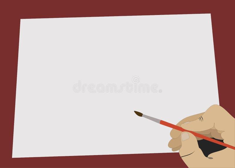 Desenho inacabado ilustração royalty free
