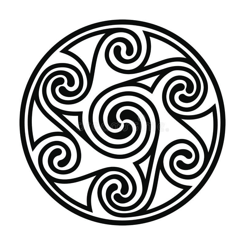 Desenho nacional celta ilustração do vetor