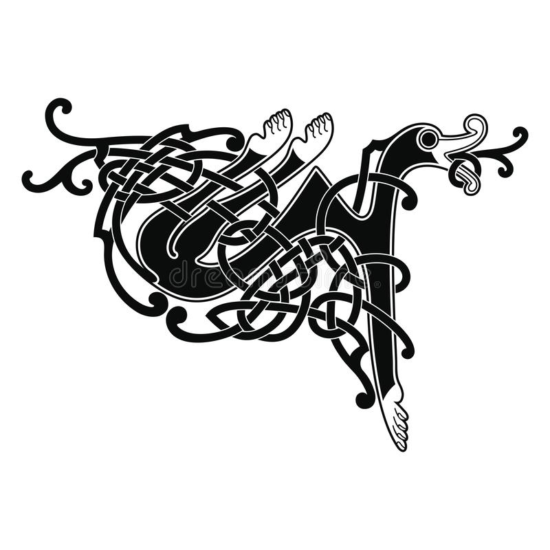 Desenho nacional celta ilustração stock