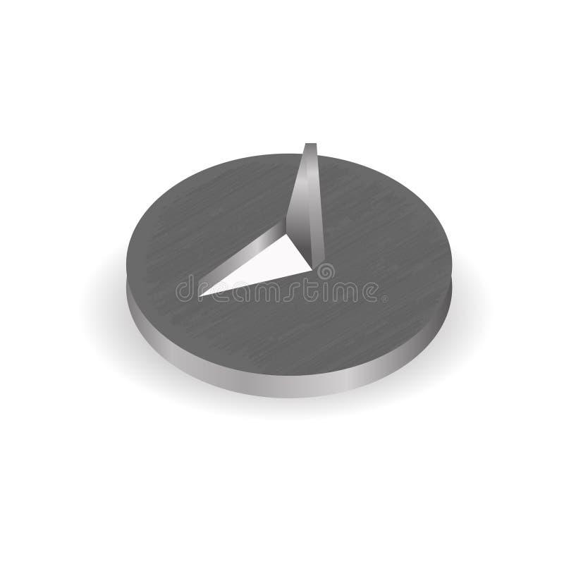 Desenho-pino isolado Vetor ilustração do vetor