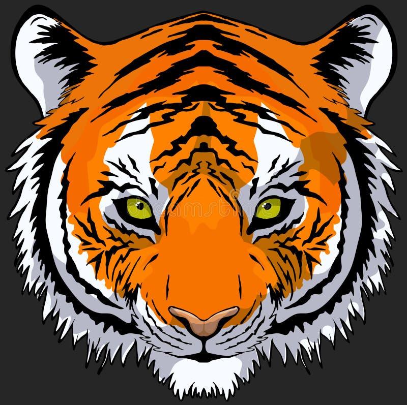 Desenho principal do tigre ilustração royalty free