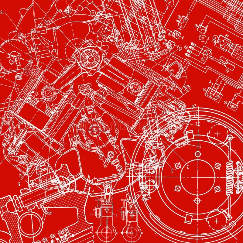 Desenho técnico ilustração stock