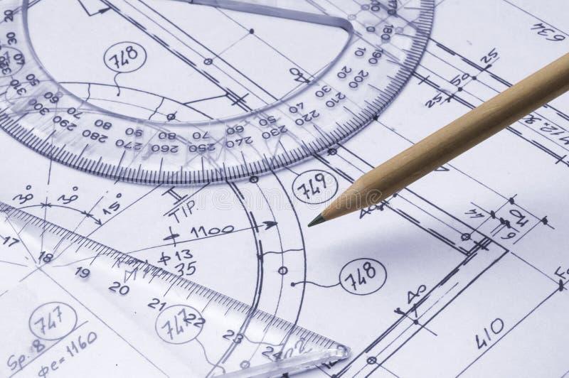 Desenho técnico imagem de stock royalty free