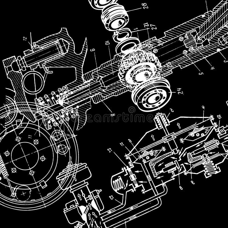 Desenho técnico ilustração do vetor