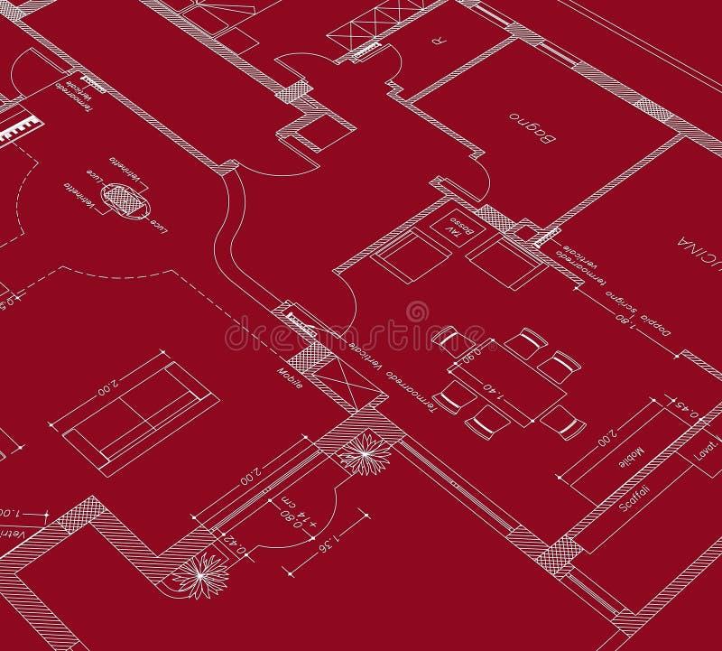 Desenho vermelho cad ilustração royalty free